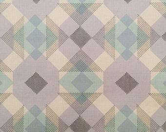 Vintage printed wallpaper. Geometric pattern.