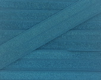 5/8 MILITARY BLUE Fold Over Elastic 5 or 10 YARDS