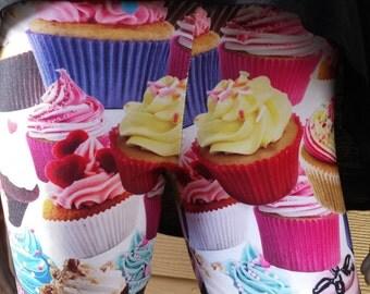 Happy Birthday Cupcake Spandex Leggings