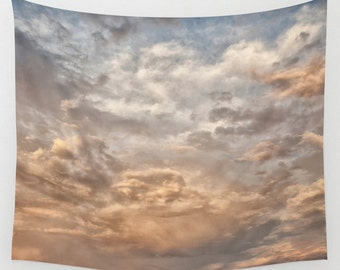 Wall Tapestry Clouds Landscape Storm Clouds Sky Rain Photography Boho Bohemian Home Dorm Apartment Decor