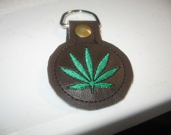 Pot Leaf Keyfob