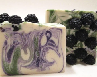 Oregon Blackberry Soap Handmade Cold Process Soap Oregon Soap