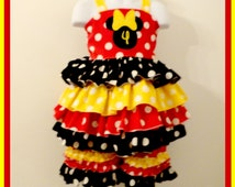 Boutique Minnie Mouse Short Outfit  9 months to 6