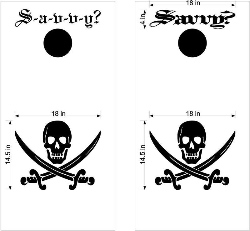 pirate davy jones locker cornhole board decals stickers bag