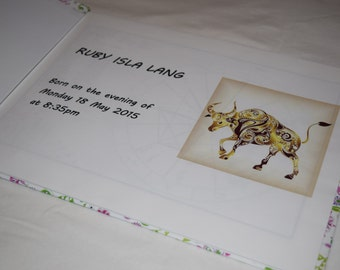 Digital Astrology Birth Chart Book, newborn gift, zodiac, astrological chart, natal chart, christening gift, astrology gift, nursery gift
