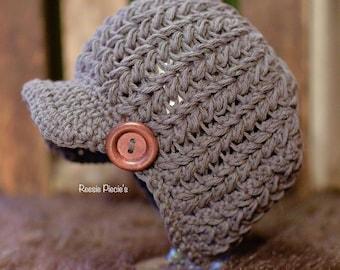 Reesie's Newsboy Hat Crochet Pattern