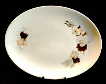 Royal Doulton Westwood pattern fine china serving plate platter dish. Autumn leaves design.