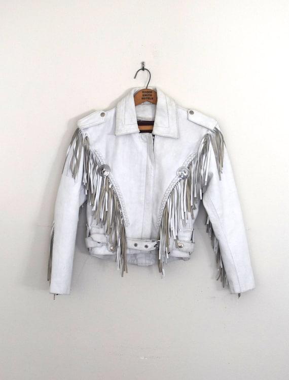 Womens White Denim Jean Jacket