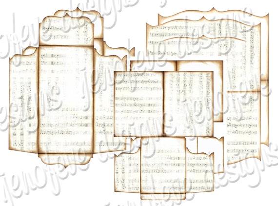 Top Note Printable Album Music Notes & Plain Templates