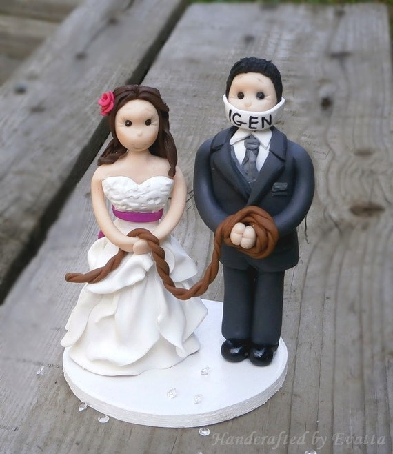 Funny Wedding Cake Topper By EviJewelry On Etsy