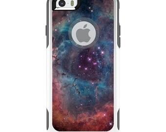 OtterBox Commuter for Apple iPhone 5S SE 5C 6 6S 7 8 PLUS X 10 - Custom Monogram - Any Colors - Purple Blue Pink Rosette Nebula