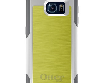 OtterBox Commuter for Galaxy S4 / S5 / S6 / S7 / S8 / S8+ / Note 4 5 8 - CUSTOM Monogram - Any Colors - Yellow Stainless Steel Print