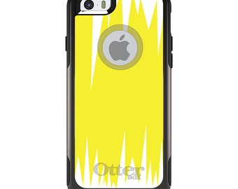 OtterBox Commuter for Apple iPhone 5S SE 5C 6 6S 7 8 PLUS X 10 - Custom Monogram - Any Colors - Yellow White Spikes