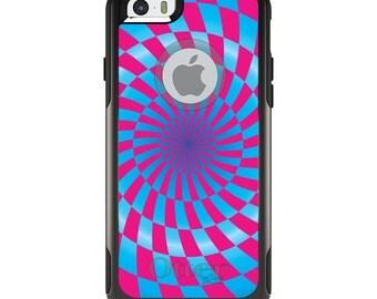OtterBox Commuter for Apple iPhone 5S SE 5C 6 6S 7 8 PLUS X 10 - Custom Monogram - Any Colors - Blue Pink Swirl Geometric