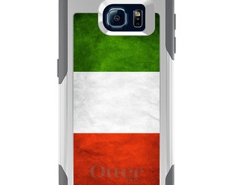 OtterBox Commuter for Galaxy S4 / S5 / S6 / S7 / S8 / S8+ / Note 4 5 8 - CUSTOM Monogram - Any Colors - Italy Old Flag