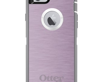 Pink Stainless Steel OtterBox Defender / Apple iPhone OR Samsung Galaxy / Pink Steel Print / Custom Personalized Monogrammed / Any Color