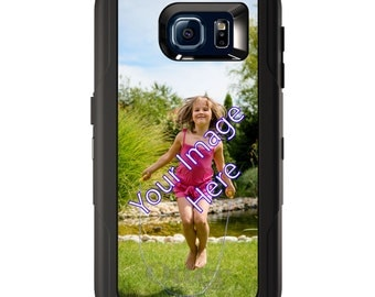 Custom OtterBox Defender for Galaxy S5 S6 S7 S8 S8+ Note 5 8 Any Color / Font - Your Design or Photo Picture Photograph