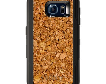 Custom OtterBox Defender for Galaxy S5 S6 S7 S8 S8+ Note 5 8 Any Color / Font - Dark Cork Board