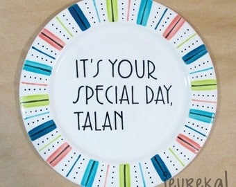"Your Special Day Plate - Large Ceramic 10.5"" Plate"