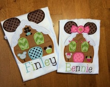 Set of Personalized Christmas Gingerbread Mouse Shirts, Rompers, Dresses, or Onesies