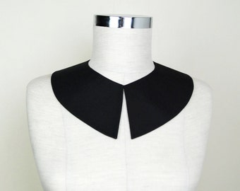 Wednesday Addams Black Detachable Collar , Hand Made From Fine Cotton Fabric,Peter Pan  ,  Pilgrim Costume