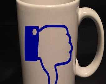 Thumbs down - Funny coffee mug