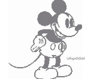 Cross stitch pattern Mickey Mouse right Disney Instant download PDF