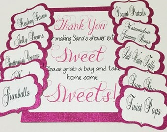 Candy Buffet Labels and Sign, Candy Bar Tags