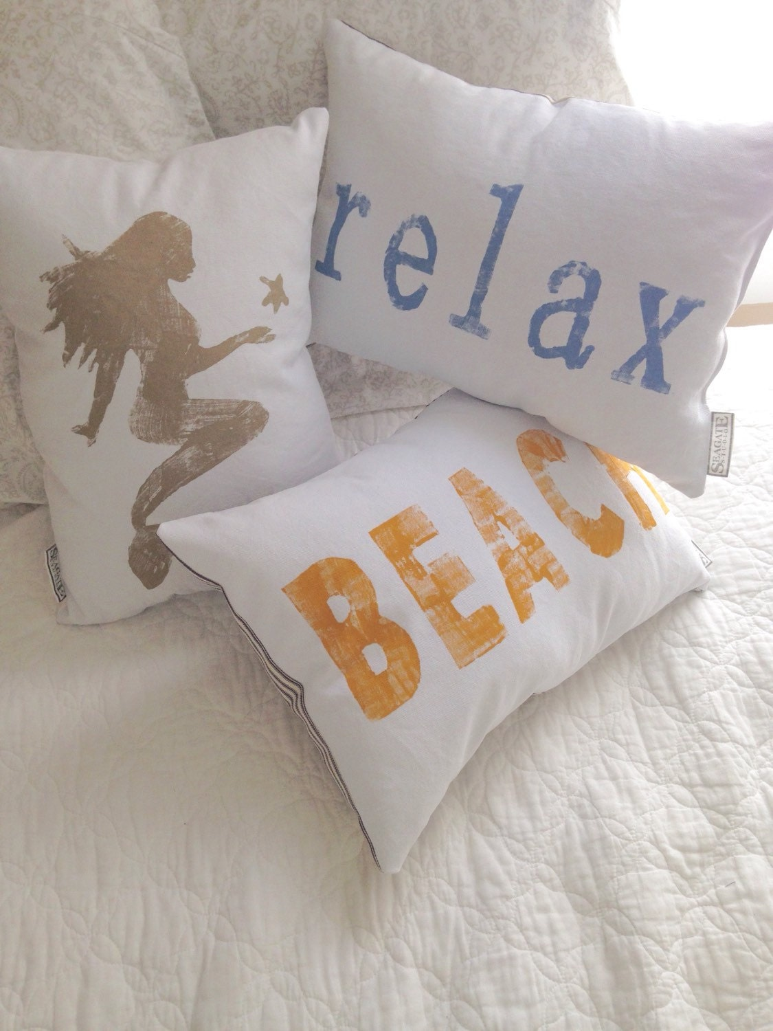 Throw Pillows That Say Relax : relax Pillow yoga pillow beach house decor by Seagate8Studio
