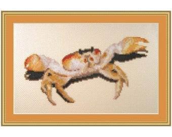 Cross stitch kit Crabby, crab, crabs, beach