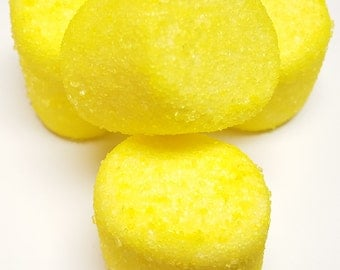 Yellow Sugared Marshmallows 2 Pounds White Approx. 100 Pieces