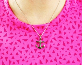 Stainless steel anchor necklace. Simple anchor with lobster clasp.