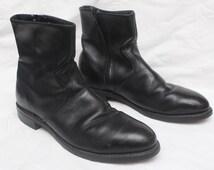 "80's Vintage ""RICO"" Black Leather High-Top Boots Sz: 9 (Men's Exclusive)"