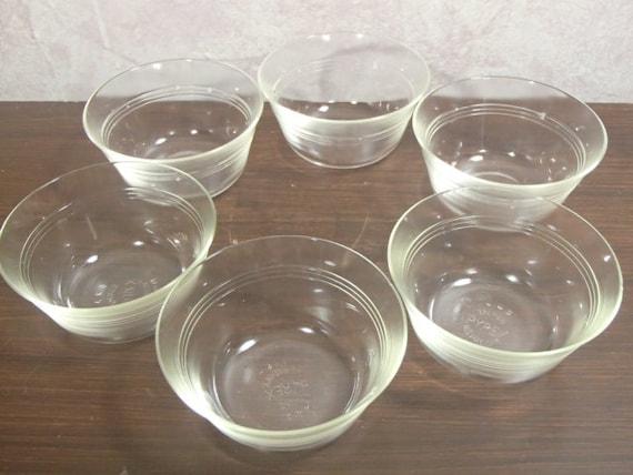 Pyrex Bakeware Clear Custard Cups, Set of 4, 6-Ounce , New ... |Lab Custard Bowl