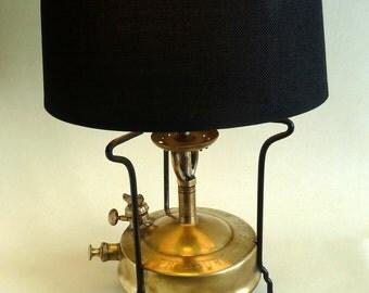 table lamp  brass  burner vintage