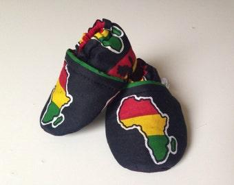 African print booties