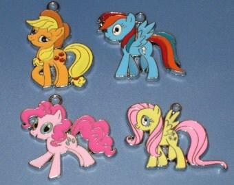 Pony Enamel Pendant Charm(s) Only