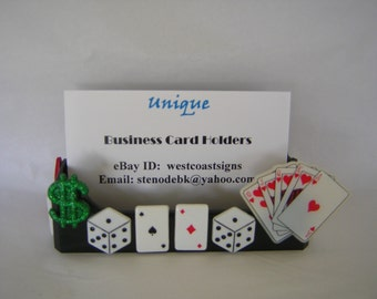 Playing Cards, Gambler, Dice, Business Card Holder