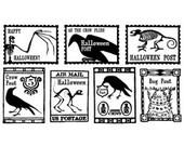 Unmounted Rubber Stamps – Seven Halloween Postoids