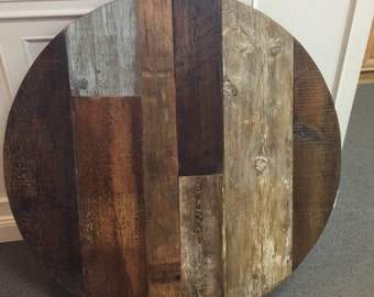 "Reclaimed wood, round dining table,42""ROUND table top,wood variety"