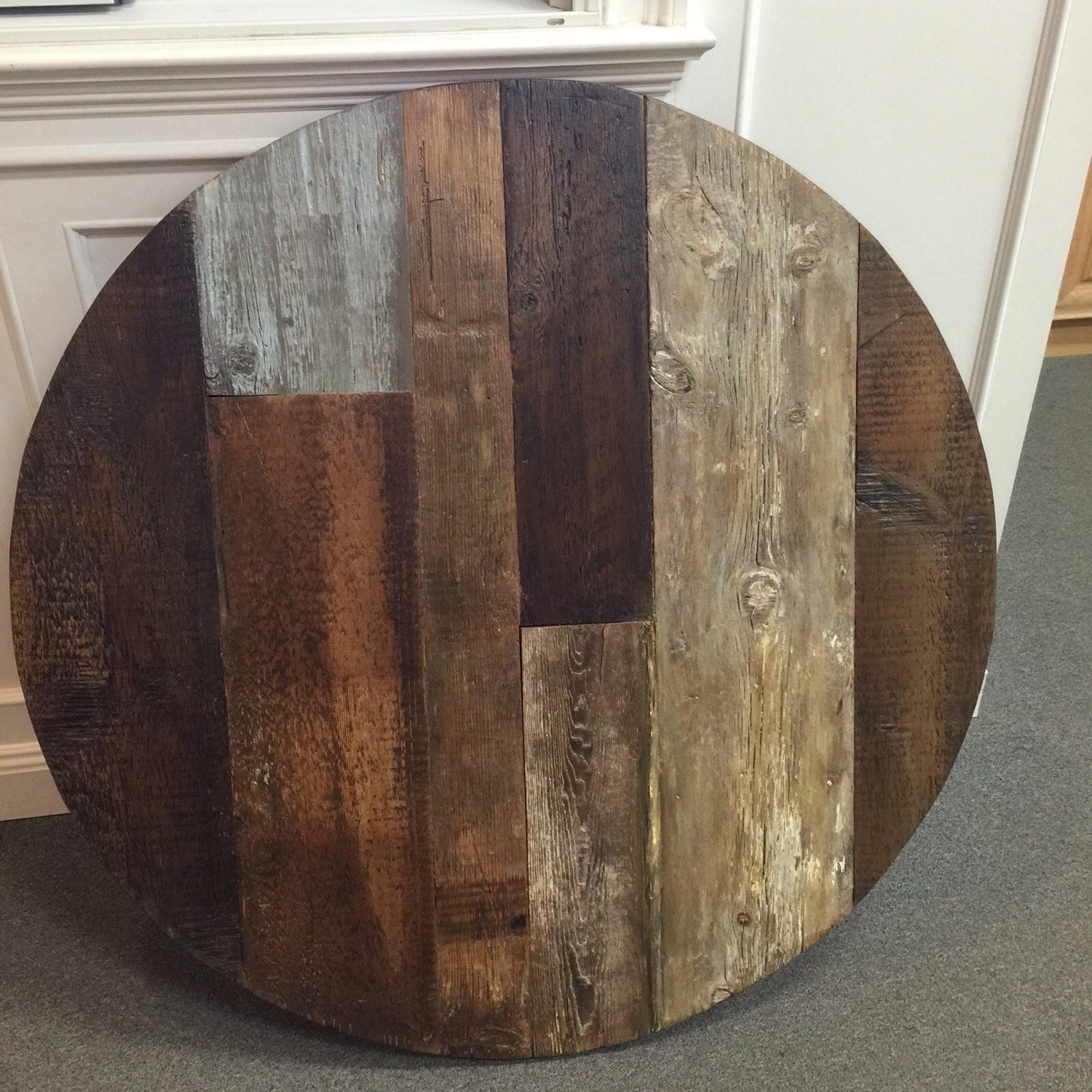 Gallery For gt Reclaimed Wood Round Table Top