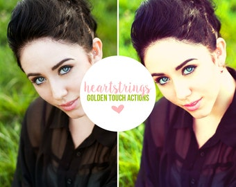 "Photoshop Action ""Heartstrings"" - INSTANT DOWNLOAD"