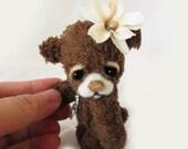 "OOAK Mini Miniature Jointed Bear ""Bessy"" ~ Artist Handmade Bear By Michele Roy"
