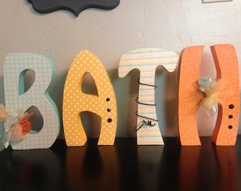 Custom wood letters. Wood letters.