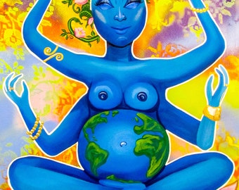 Gaia, Mother Earth Woman Empowerment Art Print