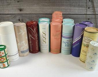 Vintage Avon Bath Powder 3.5 oz Shaker Skin So Soft Natori Odyssey Unforgettable Fancy Feet Charisma Pearls & Lace Country Honey Winterglow