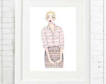Illustration pattern doll