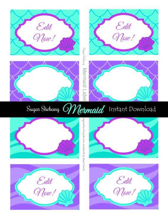 Invitation Little Mermaid for awesome invitations layout