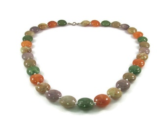 Colorful Candy Colored Disk Beaded Necklace