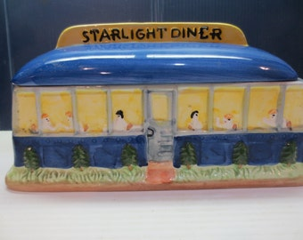 Rare Vintage Corning Collectible STARLIGHT DINER Cookie Jar